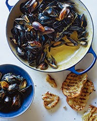 Mussels Saffron Cream