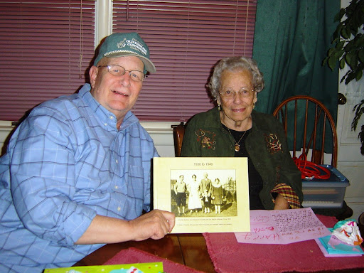 Bob gives Mom a Photobook entitled, The Decade, 1930-1940 (Mom's teenage years). Close-up