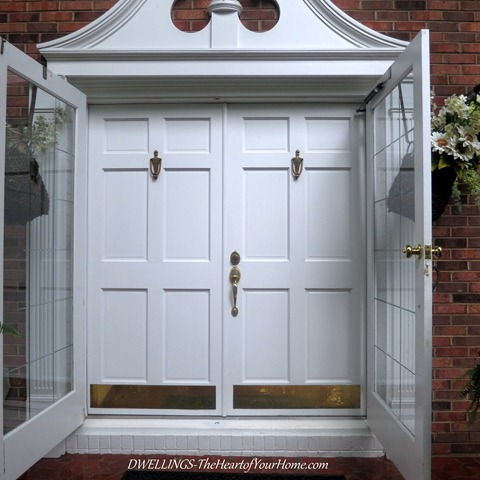 The entry double door remodel dwellings the heart of for Storm doors for double entry doors