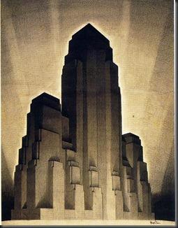 Hugh Ferris; Maximum Height, 1916 Zoning Law, stage 4, 1922