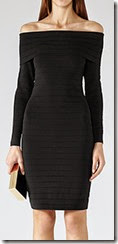 Reiss Off the Shoulder Black Dress