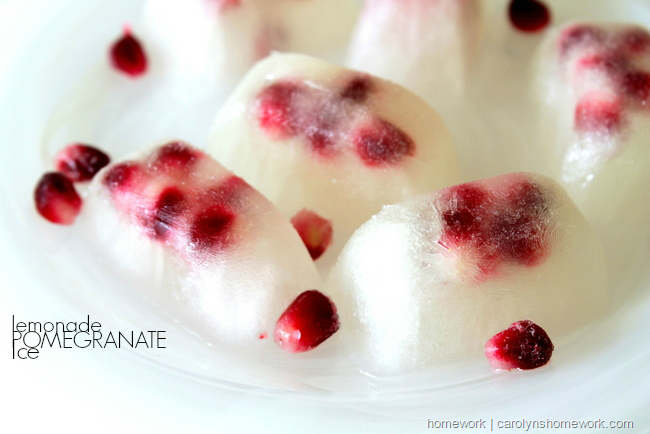 Pomegranate Lemonade Ice via homework  carolynshomework (5)