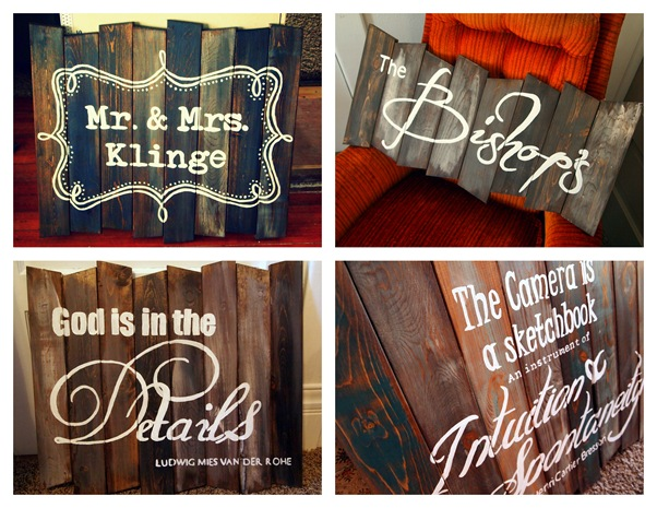 Custom Barn Board Signs by Sawdust and Embryos
