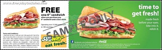 Subway Buy 1 Free 1 Sandwich With Coupon Branded Shopping Save Money EverydayOnSales