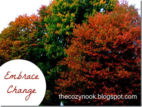 Embrace Change - The Cozy Nook