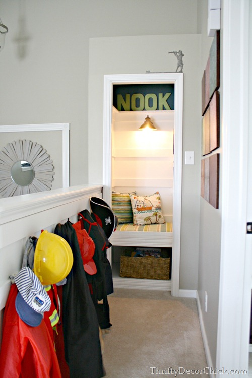 book nook out of closet