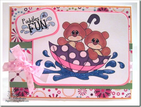 bears umbrella spring digital clipart 500