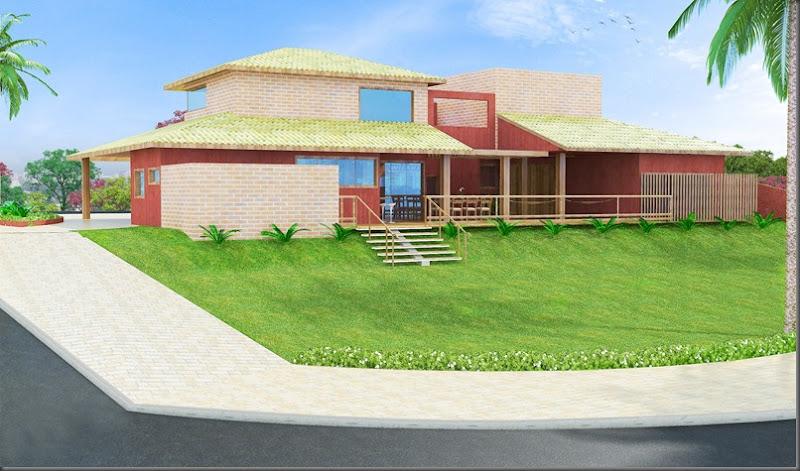 Projeto Residencial - fachada Posterior - Vivendas do Lago - Sorocaba SP
