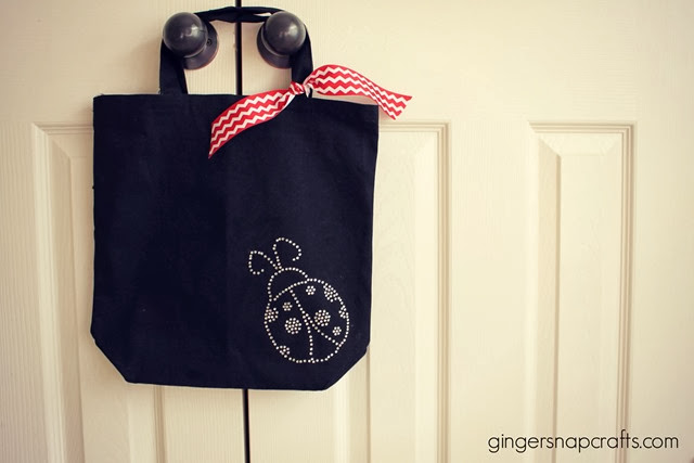 ladybug bag with Silhouette Rhinetones