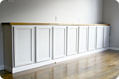 primed cabinets