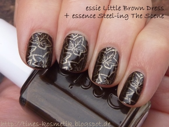 essie Little Brown Dress Stamping 5