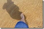 Para não dizer que não me banhei em águas gregas, molhei o pé!