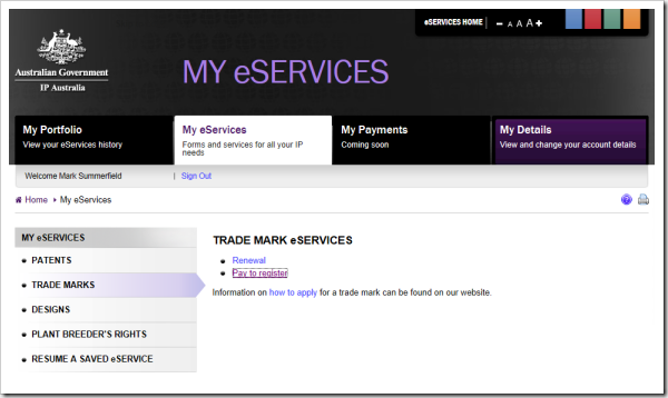 My eServices