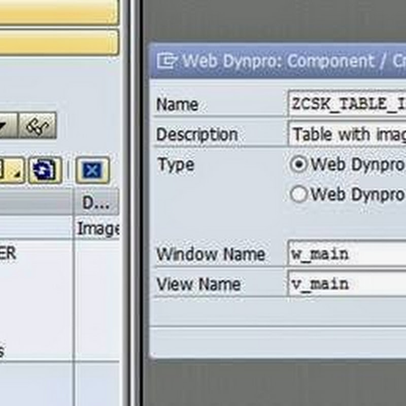 Table with Image UI element
