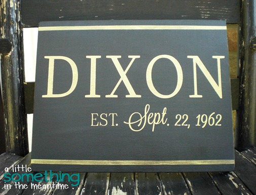 Dixon Family Name Sign Zoom
