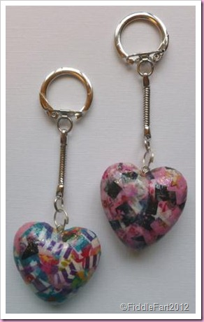 Decopatch heart Keyring