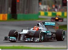 Schumacher nelel prove libere del gran premio d'Australia 2012