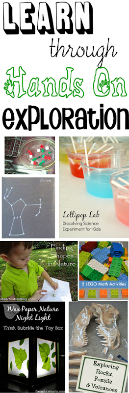 Learn through hands on exploration - homeschool and preschool fun with science and math with lego