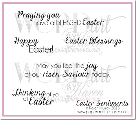 Easter Sentiments WORDart by Karen www.papercraftmemories.com
