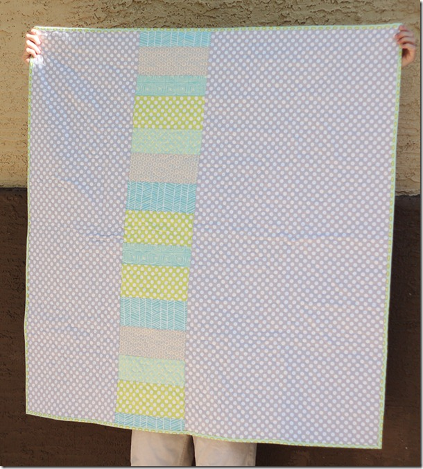 Wonky Star Quilt Back