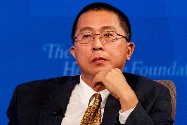 Willie Soon, a solar researcher at the Harvard-Smithsonian Center for Astrophysics, in Cambridge, spouts standard climate science denialist claims at a Heritage Foundation event. Soon's work is funded by energy industry grants. Photo: PETE MAROVICH / BOSTON GLOBE