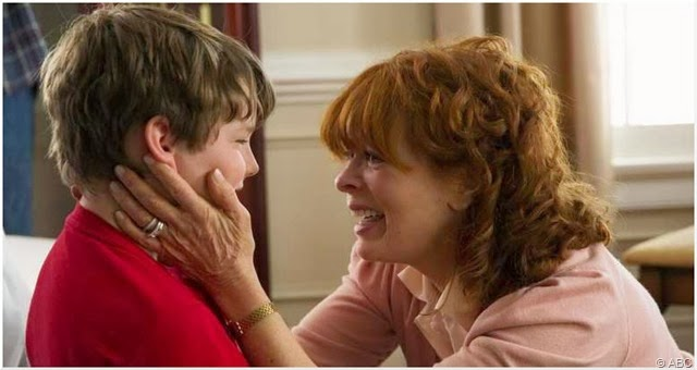 Landon Gimenez and Frances Fisher star in RESURRECTION.