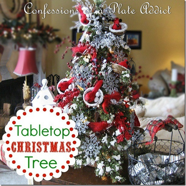 CONFESSIONS OF A PLATE ADDICT Tabletop Christmas Tree