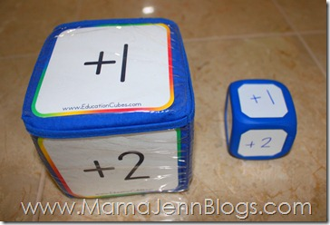 Education Cubes vs. Write-On Wipe-Off Dice
