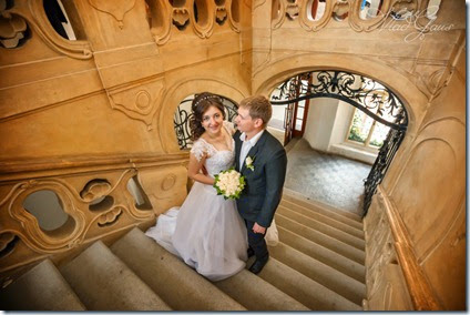Свадебные фотографии Прага и замок Либень - фотограф Владисла Гаус