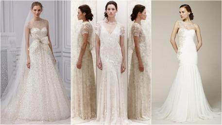 vestidos de novia con brillos y apliques
