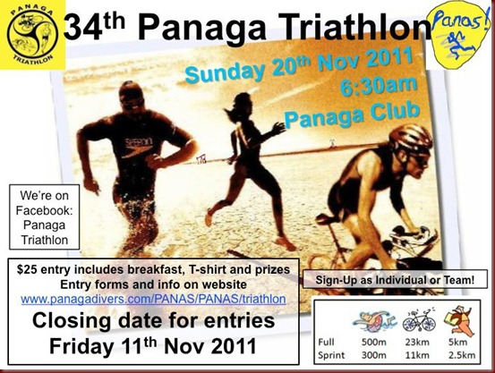 Panaga Triathlon Nov 2011
