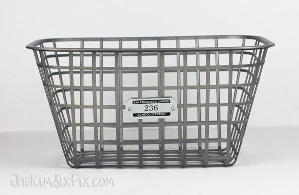 Faux zinc locker basket