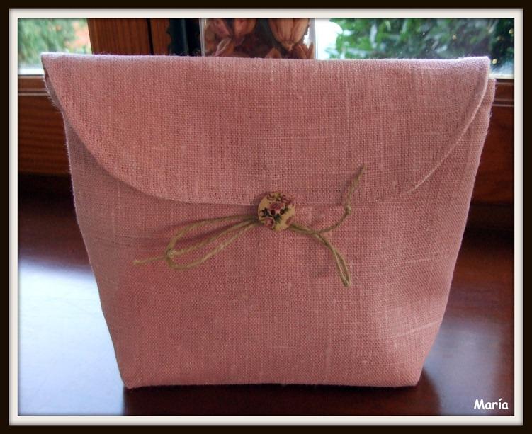 Bolsas de lino rosa-4