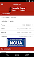 Screenshot of Louisville FCU