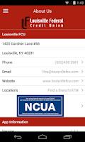 Screenshot of Louisville FCU