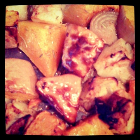 #Project366 day #3 - Roasted squash, apples and shallots ready to blend into soup