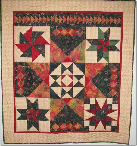 Christmas star sampler quilt