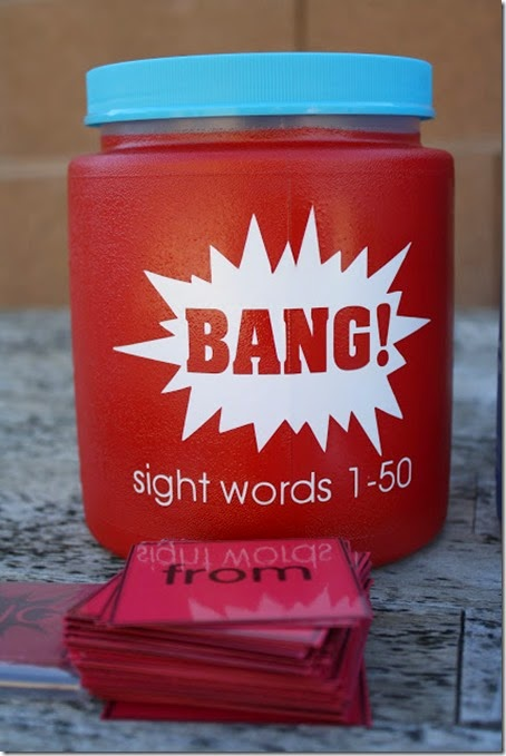 bang sight word game #preschool #kindergarten #homeschool