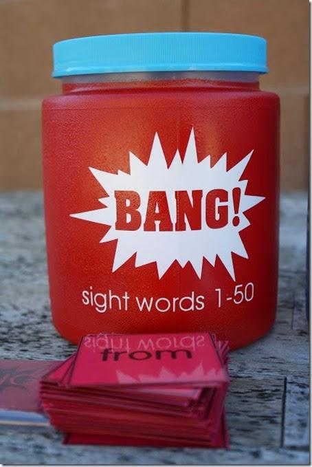 bang sight word game #preschool #kindergarten #homeschool