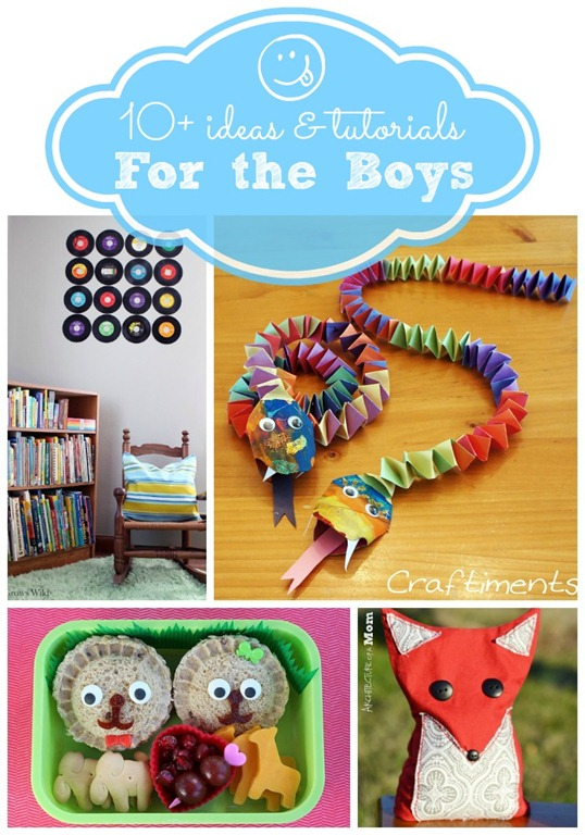 10  ideas & tutorials for the boys