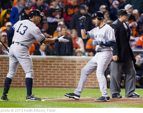 'Alex Rodriguez, Derek Jeter' photo (c) 2012, Keith Allison - license: http://creativecommons.org/licenses/by-sa/2.0/