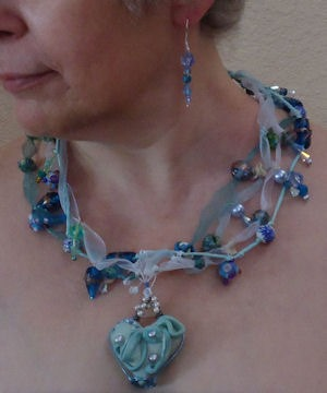 bead strung necklace