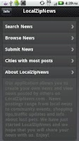 Screenshot of Local Zip News