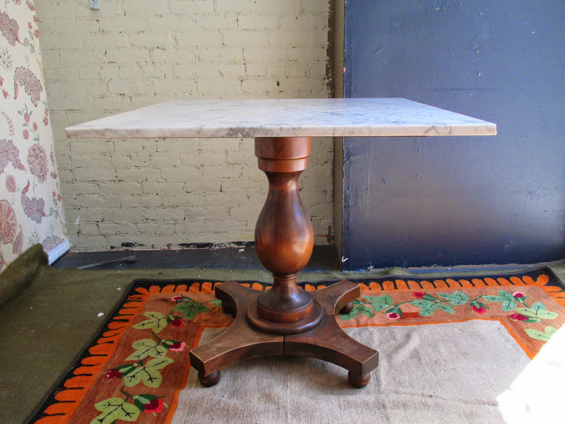 Marble Top Pedestal Table 2