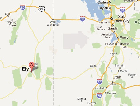 Ely Nevada Map