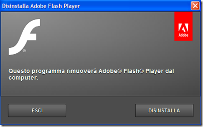 Disinstallatore Adobe Flash Player
