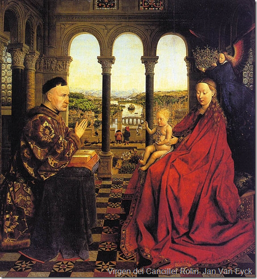 Virgen del Canciller Rolin. Jan Van Eyck
