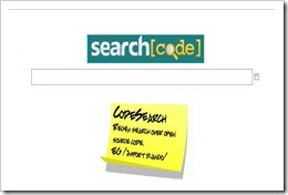 search code a search engine for finding coding tutorials and programms