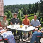 Kaffeerunde mit dem Büro-Team und Baby Simon, Mai 2008