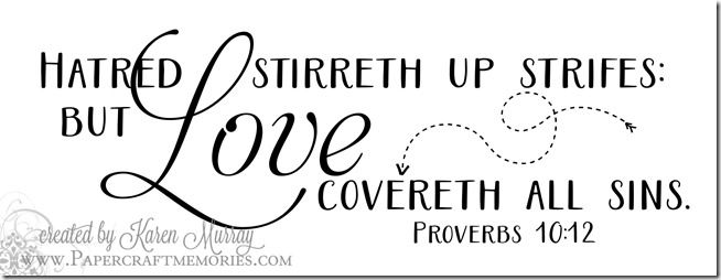 Papercraft Memories: Proverbs 10:12 WORDart by Karen